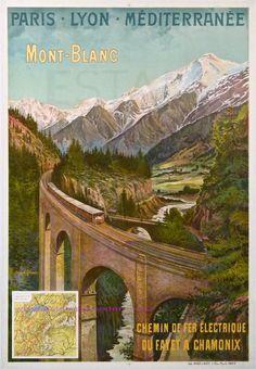 L Trinquier Trianon Train Plm Mont Blanc Chamonix 75X105,5 Imp Hugo D Alesi | Flickr - Photo Sharing!