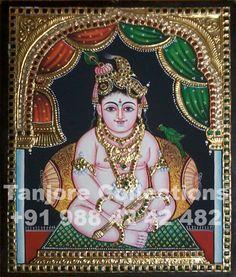 12x15 Tanjore Painting Krishna