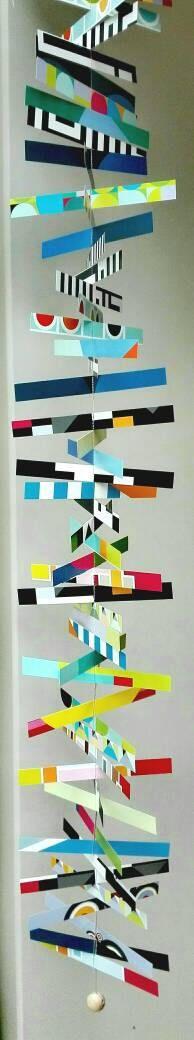 Ich freue mich, den jüngsten Neuzugang in meinem #etsy-Shop vorzustellen: Genähtes Papier Mobile geometrische Muster bunt #haushaltswaren #papier #fraubwerkt https://etsy.me/2GQKdhe