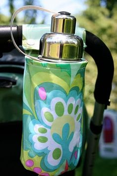 DIY cotton cupholder, when I have a baby that makes it home from the hospital, I'm going to have Gramma maked several of these for our stroller! Some for me, some for Daddy and some for Baby.
