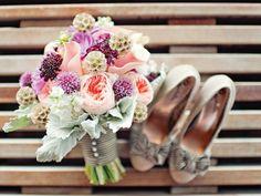 El ramo de novia y los zapatos de novia | El blog de María José  #boda #novia #ramo #zapatos