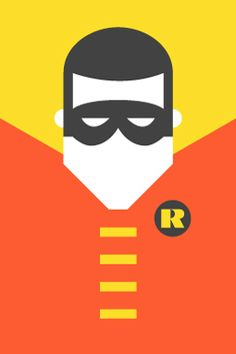 Pop Culture Icons Robin Re-Vision is an exercise in style and synthesis of different cultural icons. It is a series of portraits of the most representative of the world of comics, movies, television, sports and music. Here it is Super Heroes