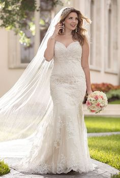 PLUS SIZE WEDDING DRESSES Every bride, regardless of her body shape or size, should experience the joy of finding the designer wedding dress of her dreams