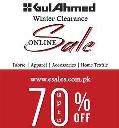 Gul Ahmed Winter Clearance Sale 2016