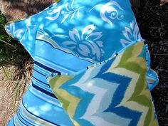Designer Outdoor Fabric with ocean blue colour