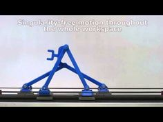 Singularity-Free Kinematically Redundant Planar Parallel Mechanism - YouTube