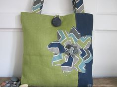 Green tote bag, Navy blue tote bag, Chevron purse, Grey book bag, Handmade totebag, Green handbag, Market bag,Woman accessory Beach