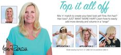 "How to apply ""easiXtend"" hair extensions and ""Top Form"" clip-in hair addition. Mix and match to create your best look! Bridesmaid Hair, Prom Hair, Back Combing, Advanced Hair, Jon Renau, Hair Toppers, Synthetic Hair Extensions, Formal Hairstyles, Remy Human Hair"