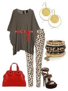 Animal Print by outfits-de-moda2 on Polyvore featuring moda, DRKSHDW, Clu, Jimmy Choo, Meredith Wendell, River Island, Kenneth Jay Lane and Dorothy Perkins