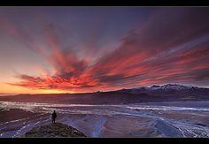 Sunset seen from the Beast - Eyjafjallajökull Eruption by orvaratli, via Flickr