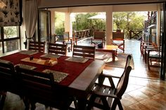 Perfect setup to enjoy your breakfast, lunch & dinner @ Eden Safari Country House Wild Life, Safari, Conference Room, Dining Table, Lunch, Dinner, Country, Breakfast, House