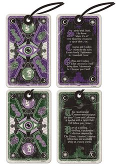 Tarot Card Hangtags - Part of New Chilling, Thrilling Haunted Mansion Merchandise from Disney Parks