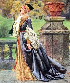 """Queen Katherine (detail). From """"Eleanor Fortescue Brickdale's Golden Book of Famous Women"""" (1919)"""