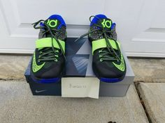 check out 6463e a74d3 Nike KD VII 7 Electric Eel Basketball Shoes PRE-OWNED MENS Size 10.5  #fashion