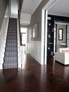 Victorian Hallway Uk Home Design Ideas, Renovations & Photos – Home Renovation House Design, Hallway Decorating, House, Victorian Hallway, Staircase Design, Hallway Flooring, New Homes, House Interior, Carpet Stairs