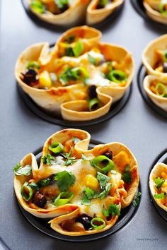 Easy Enchilada Cups -- quick and easy to make with your favorite fillings, and perfect for a party!