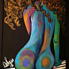 My art #art #paint #canvas #women #colors