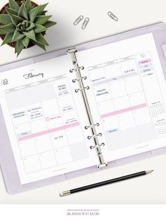 2017 & 2018 MONTHLY CALENDAR PRINTABLE Instant Download