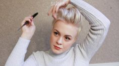 Pushed Back Pixie Cut Style / Effortless & Easy