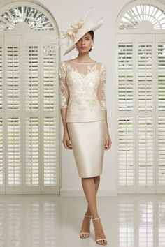 : 991508 Champagne Veni Infantino Peplum Occasion Dress Choose elegant champagne hues paired with delicate applique detailing for your next wedding or event with this feminine dress from the Veni Infantino collection. A slimline peplum cut helps to create Wedding Outfits For Groom, Mother Of Bride Outfits, Mother Of The Bride, Floaty Dress, Next Wedding, Formal Wedding, Wedding Ideas, Dinner Outfits, Prom Outfits