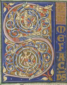 Pierre Lombard, sur le Psautier. Date d'édition : 1101-1200 Type : manuscrit Langue : Latin Format : 172 ff. - Peintures. - 405 × 310 mm. - Reliure XVII-XVIIIe s Droits : domaine public Identifiant : ark:/12148/btv1b8541002j