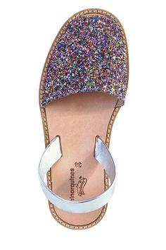 Sandales paillettes pour femmes Minorquines