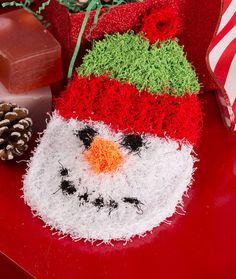 Snowman Scrubby Free Crochet Pattern in Red Heart Yarns