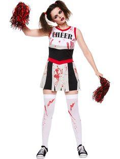 zombie cheerleader adult costume