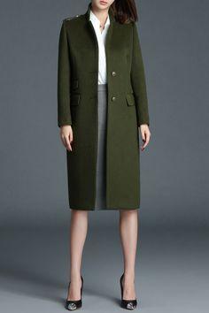 Single Breasted Walker Wool Blend Coat