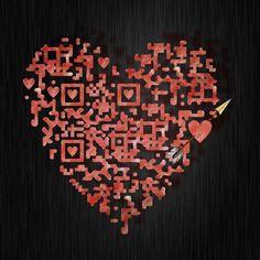QR Code Design - Heart coding!