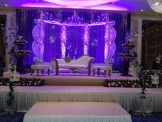 stage decoration with lighting