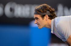 Roger Federer awaiting serve against Tsonga