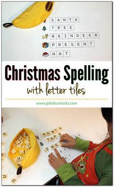 Looking to give your kids a bit of spelling practice during the Christmas holidays? Note: For more Christmas activities your kids will love, see my Christmas Activities for Kids page. Spelling Practice, Spelling Activities, Kids Learning Activities, Alphabet Activities, Teaching Kids, Listening Activities, Reading Games, Christmas Activities For Kids, Preschool Christmas