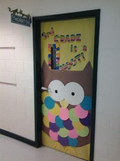 door for owl theme | Classroom