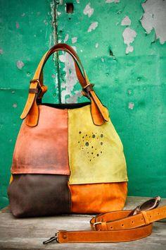 Oversized Bag ladybuq woman design bag Alicja whiskey by ladybuq