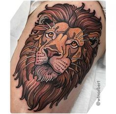 35 ideas for tattoo traditional lion black Traditional Tattoo Animals, Traditional Tattoo Art, Neo Traditional, Trendy Tattoos, Black Tattoos, Cool Tattoos, Lion Head Tattoos, Tiger Tattoo, Tattoo Girls