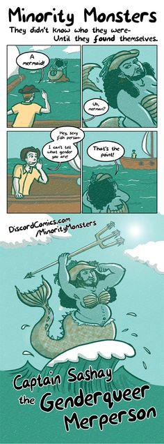 Minority Monsters: Captain Sashay the Genderqueer Merperson