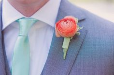 A delicious combination of aqua and coral pink – perfect for summer! @ Wedding-Day-Bliss