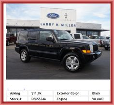 2006 Jeep Commander Base SUV 50-50 Third Row Seat, Compass, In-Dash Single Cd Player, Power Remote Passenger Mirror Adjustment, Abs And Driveline Traction Control, Metal-Look Dash Trim, Tilt-Adjustable Steering Whee