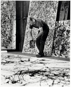 Jackson Pollock, 1951, photographed in action by Hans Namuth via missyoojennifer