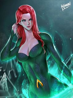 Read Mera from the story DC Comics Xmalereader (Lemon, one-shot, harem) by BlinkCreator (Blink) with reads. Art by Hibren It. Mera Dc Comics, Dc Comics Girls, Arte Dc Comics, Dc Comics Characters, Female Characters, Comic Books Art, Comic Art, Anime Echii, Fanart