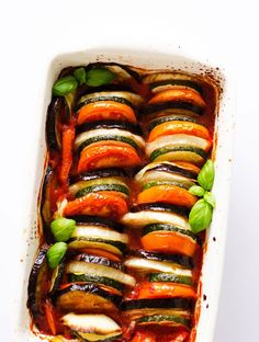 Starting the new year right with this healthy and beautiful vegan ratatouille.