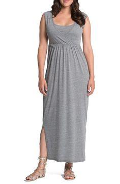 7d410e791b Bun Maternity Cross Top Maternity Nursing Maxi Dress