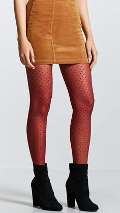 Forever 21 Diamond Mesh Tights -  Forever 21 Diamond Mesh Tights A pair of mesh tights featuring a diamond and dotted pattern and an elasticized waist.  #tights #pantyhose #hosiery #nylons #tightslover #pantyhoselover #nylonlover #legs