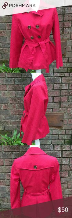 Exclusive Mary Kay Red Trench Jacket Mary Twinhill for Mary Kay Jackets & Coats Trench Coats