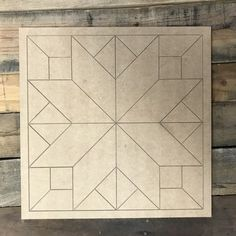 Painted barn quilts - Quilt Pattern 4 DIY, Unfinished Wood Cutout, Paint by Line – Painted barn quilts Barn Quilt Designs, Barn Quilt Patterns, Quilting Designs, Quilt Square Patterns, Paint Patterns, Wood Patterns, Craft Patterns, Mason Jar Crafts, Mason Jar Diy