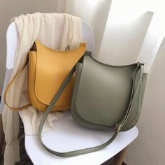 Shape: Saddle Handbags Type: Shoulder Bags Main Material: PU Closure Type: Hasp Hardness: Soft Exterior: NONE Style: Casual Lining Material: None Occasion: Versatile Gender: WOMEN Pattern Type: Solid Number of Handles/Straps: Single Leather Crossbody Bag, Leather Purses, Leather Handbags, Leather Backpack, Crossbody Bags, Pu Leather, Leather Bags, Saddle Handbags, Saddle Leather
