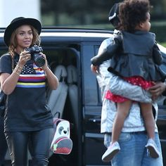 Spotted in Paris: Blue Ivy's Skip Hop Panda Zoo Pack w/ mom Beyonce. #skiphop #spotted