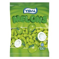 Chicles Melones Vidal en formato bolsa con 250 unidades a un precio de escándalo, y muy económico. ¡Para disfrutarlos en verano! Convenience Store, Bag, Chewing Gum, Jelly Beans, Calcium Phosphate, Shellac, Humectant, Syrup, Convinience Store