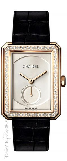 Regilla ⚜ Chanel.  Via @innochka2. #Chanel #watches                                                                                                                                                                                 More